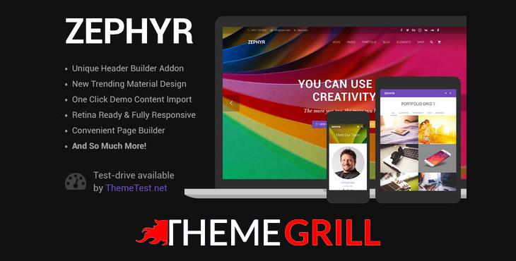 قالب زفایر وردپرس | Zephyr Material Design Theme