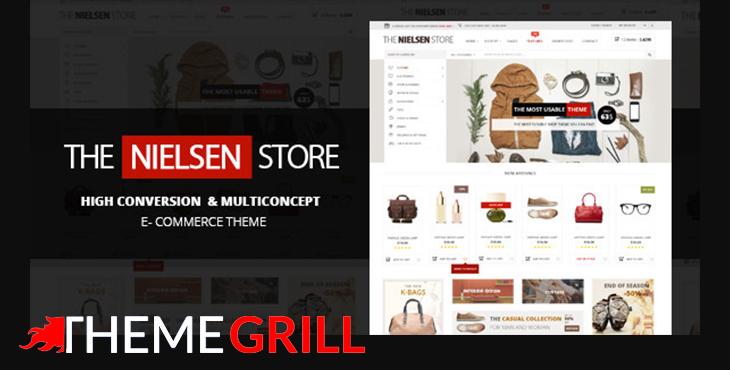 پوسته فروشگاه ووکامرس نیلسن | Nielsen